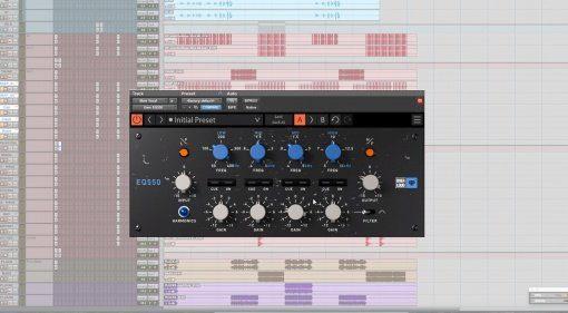 OVerloud EQ550 Plug-in Pro Tools GUI
