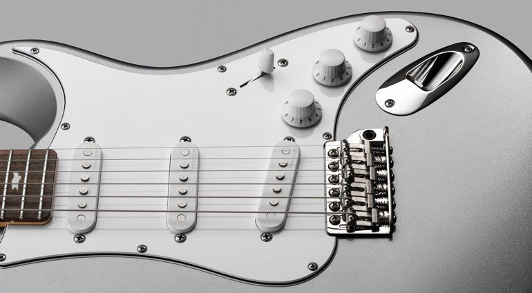 PRS John Mayer Signature Silver Sky Strat Tungsten Front