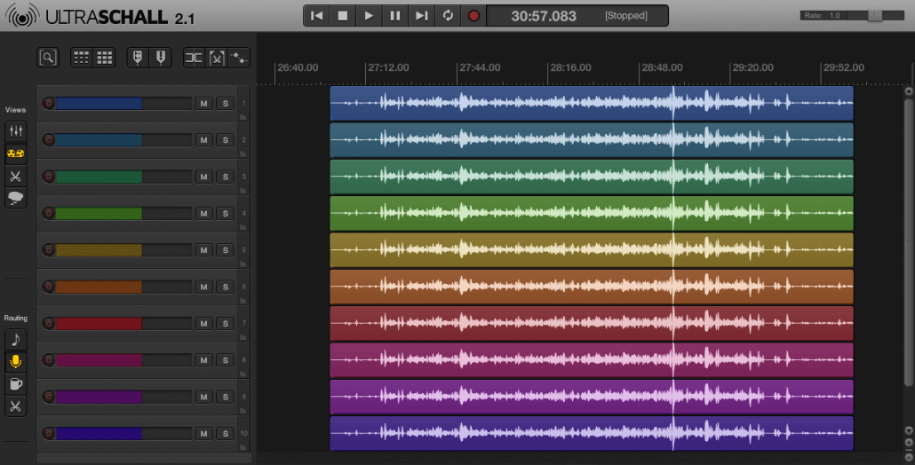 Ultraschall 2.1 REaper Podcast Toolbox Farben