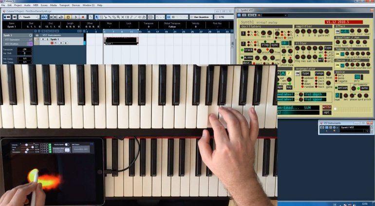 Pen2Bow steuert mit dem Apple Pencil Software-Synthesizer