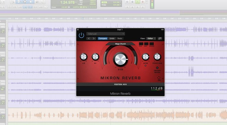 112DB Mikron Reverb Plug-in GUI