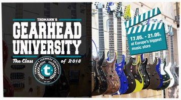 Gearhead University Thomann Youtuber PLakat