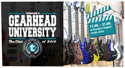 Gearhead University Thomann Youtuber PLakat