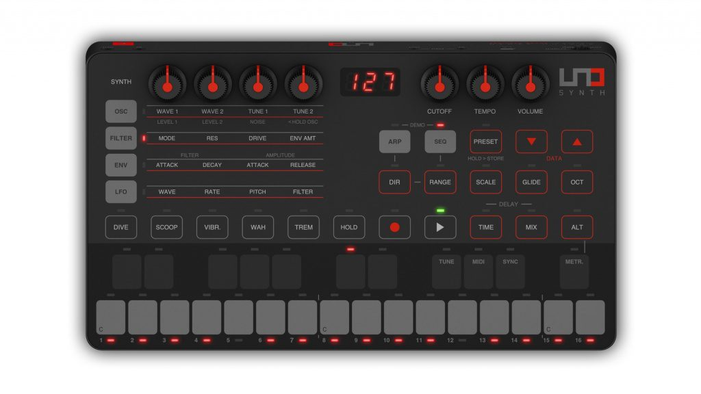 IK Multimedia UNO Synthesizer Top
