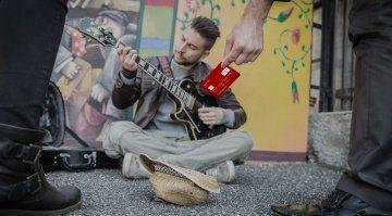 kreditkarte straßen musiker london