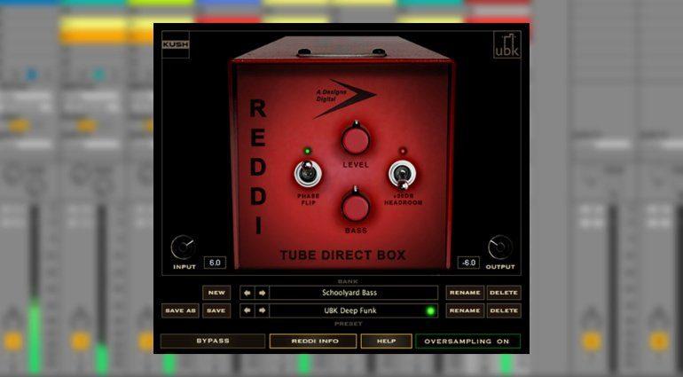 REDDI ist eine Tube-DI-Emulation für Bässe - jetzt als Plug-in