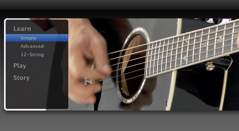 GarageBand Artist Lesson:Die Original-Variante und das, was die 12-String spielt, kann auch erlernt werden.