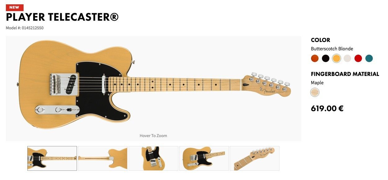 Fender Player Telecaster LEak