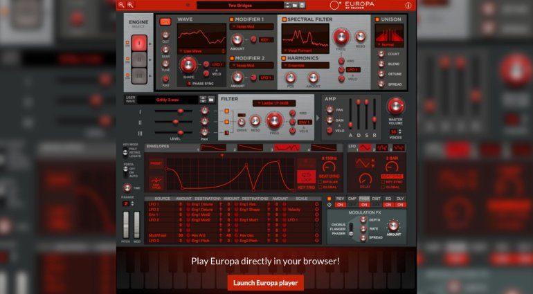 Propellerhead Reason Europa als vollwertiger Web-Synthesizer