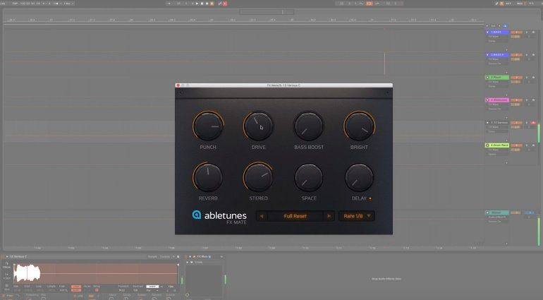 Abletunes FX Mate One Knob GUI Plug-in