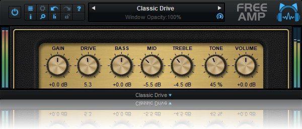 Blue Cat Audio Free Amp Classic Drive