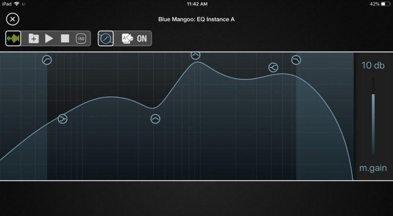 Blue Mangoo Parametric Equalizer für iOS