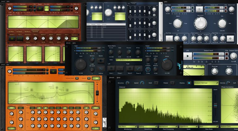 Calf STudio Plug-ins GUI Teaser