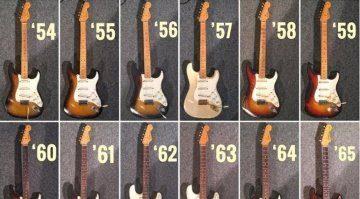 Fender Stratocaster Vergleich 1950s Johan Segeborn
