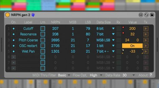 Freeware: Endlich könnt ihr NRPN-MIDI-Nachrichten in Ableton Live senden