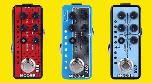 Mooer Micro Preamps Phoenix, Cali-MK-IV, Custom-100