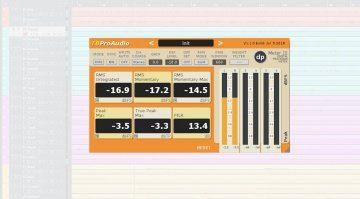 TBProAudio dpMeter 3 Plug-in GUI Cubase