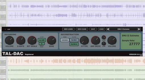 Togu Audio Line TAL-DAC Plug-in GUI