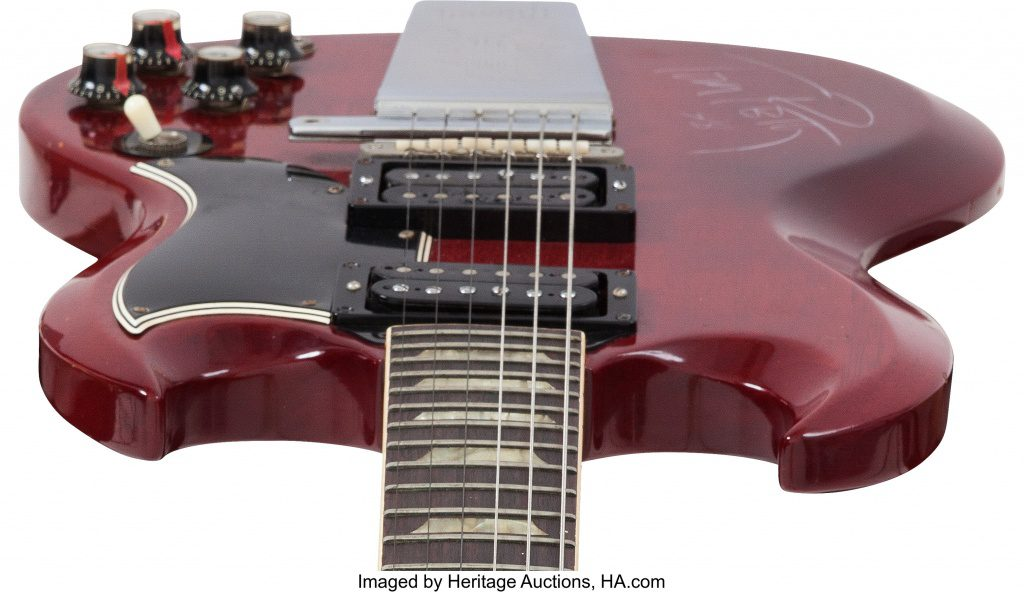 Tom Petty Gibson SG Cherry Red 3