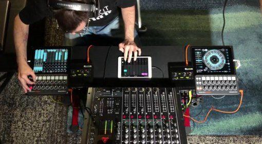 DJ Setup mit drei iPads und Patterning 2