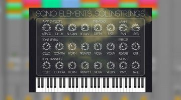 Sono Elements bildet mit SolinStrings das legendäre ARP Solina String Ensemble nach
