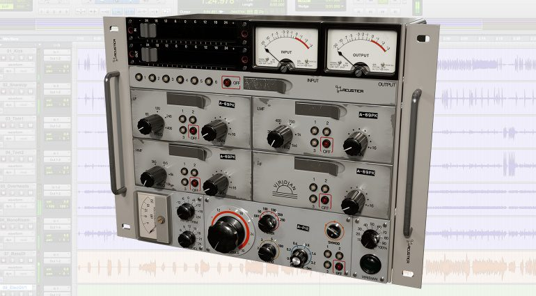 Acustica Audio Viridian EQ Kompressor Preamp Plug-in Pro Tools