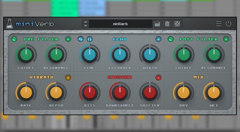 AudioThing miniVerb - ein 8-Bit Chiptune Echo Reverb VST