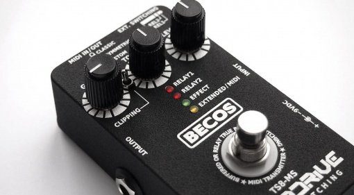 Becos ts8-ms Tube screamer midi front