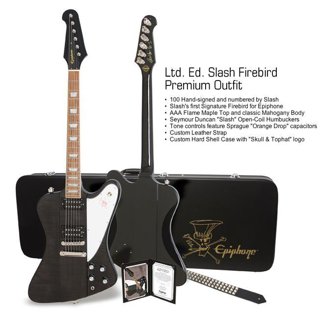 Epiphone Limited Edition Slash Firebird Premium Package