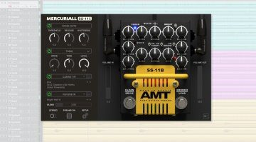 Mercuriall Audio AMT SS-11X Preamp Pedal Plug-in GUI
