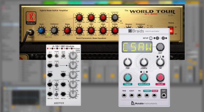 Softube veröffentlicht Eden WT-800 Bass Amp, Mutable Instruments Braids und DOEPFER A-188-1 BBD