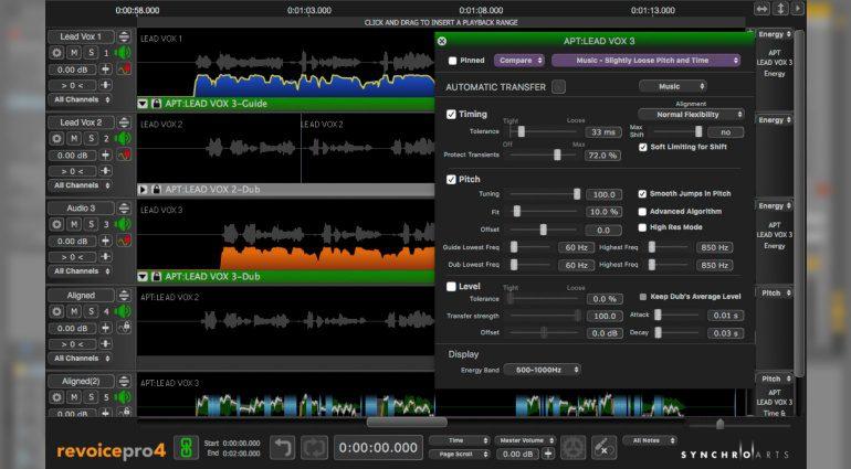 Synchroarts Revoice Pro 4 - verbessertes und intelligentes Timing