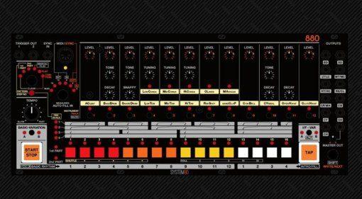 system80 880 TR808 Rack