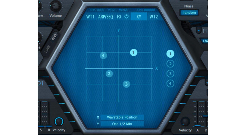 U-He Hive 1.2: das neue X/Y-Pad