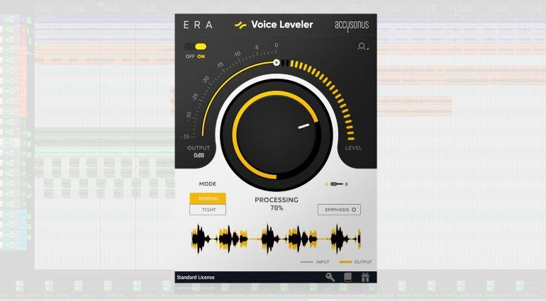 Accusonus Voice LEveler Plugin GUI