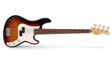 Der Cort GB54P Bass in 2 Tone Burst.