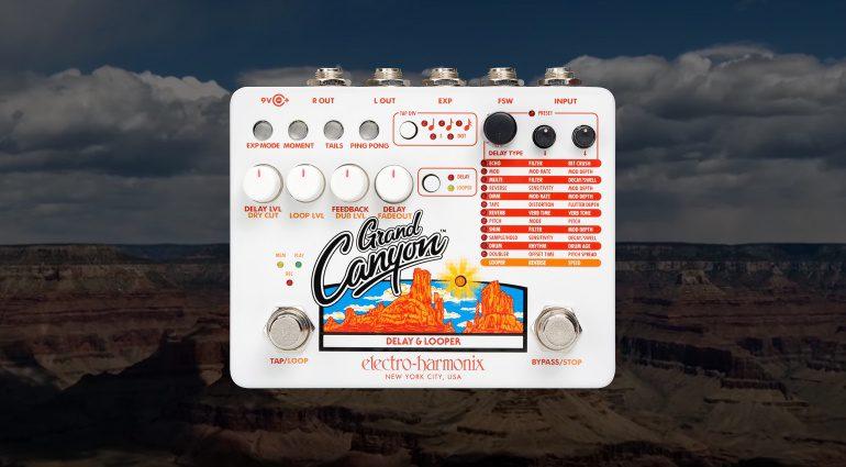 Electro Harmonix EHX Grand Canyon Delay Effekt Looper FX Pedal