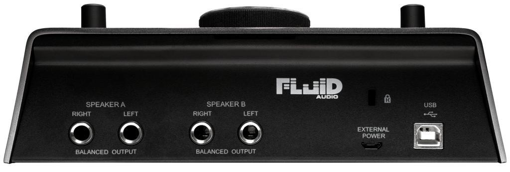Fluid Audio SRI-2 USB Audio Interface BAck