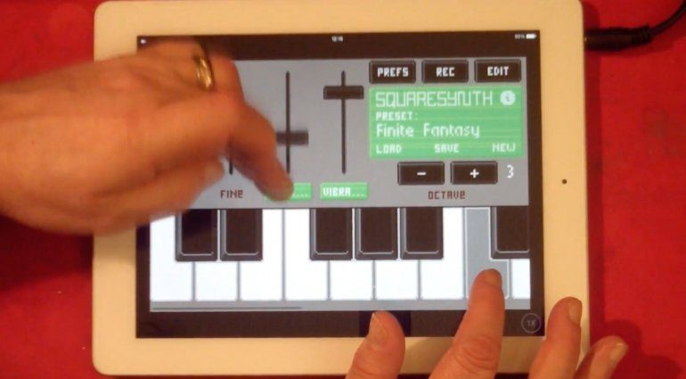 Arcade Game Sounds auf dem iPad mit SquareSynth 2