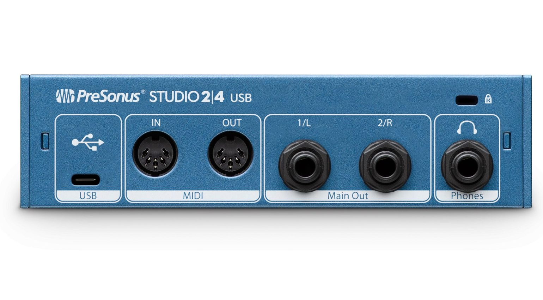 Presonus Studio 24 Audiointerface USB-C Back