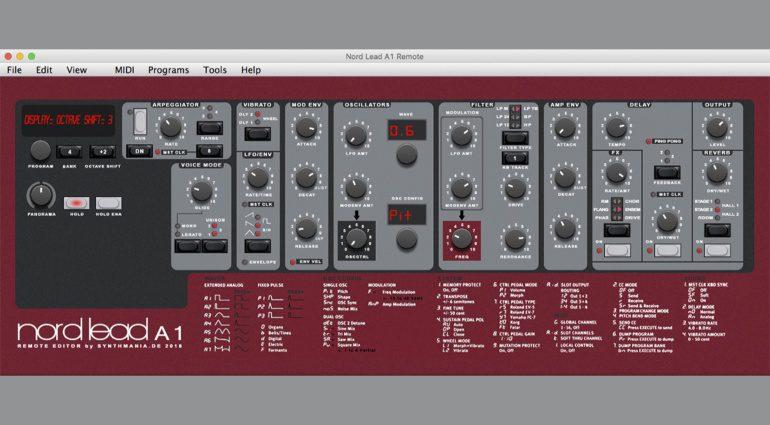 Synthmania NL A1 Editor