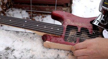 Darell Braun Youtube Gitarre Stratocaster zersaegen Sustain Test