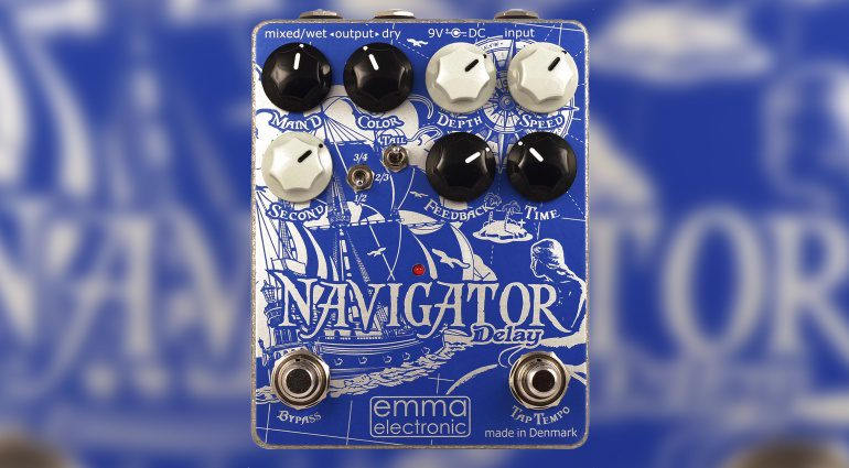 Emma Electronics Navigator Delay Effekt PEdal Front