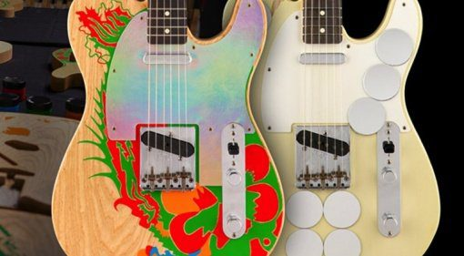 Fender-Jimmy-Page-Mirrored-and-Dragon-Telecasters-Masterbuilt-by-Paul-Waller