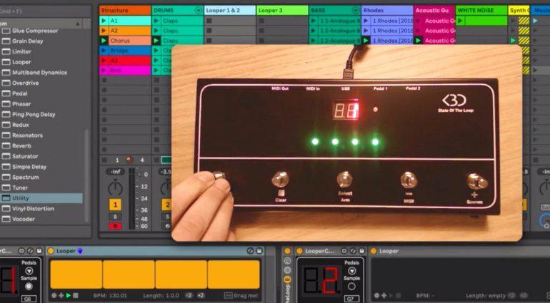 Endlich gibt es eine Hardware für den Ableton Live Looper! State Of The Loop als Kickstarter Projekt