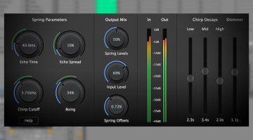 Physical Audio PA4 emuliert ein komplett frei konfigurierbares Spring Reverb