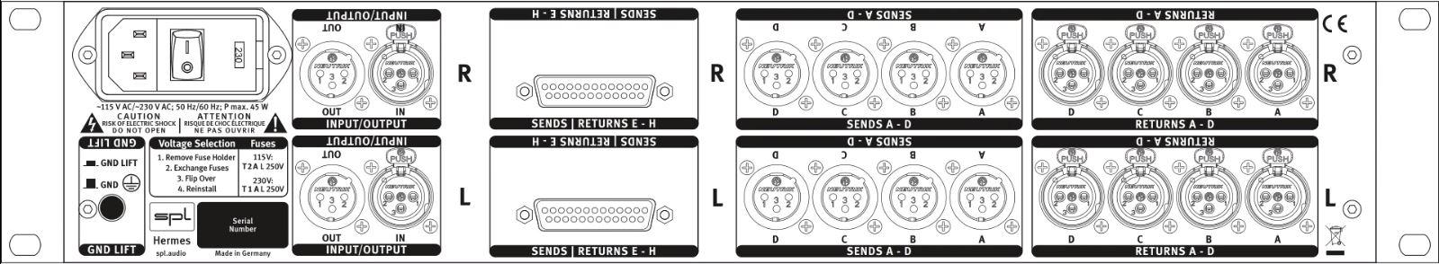 SPL Hermes MAstering Router Rueckseite