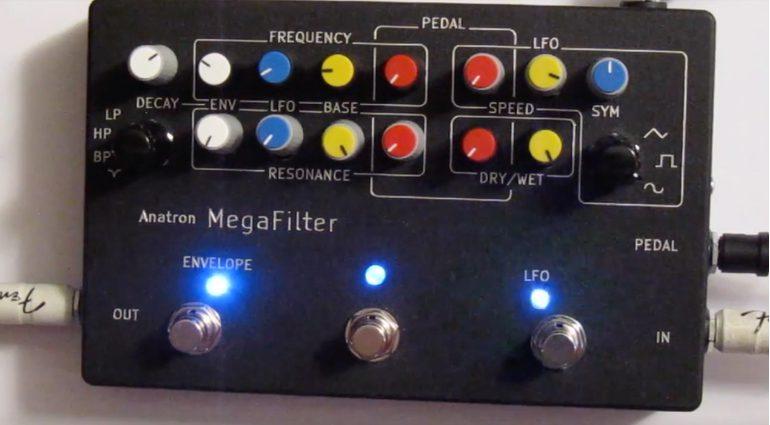 Anatron MegaFilter Effekt Pedal Kickstarter Front