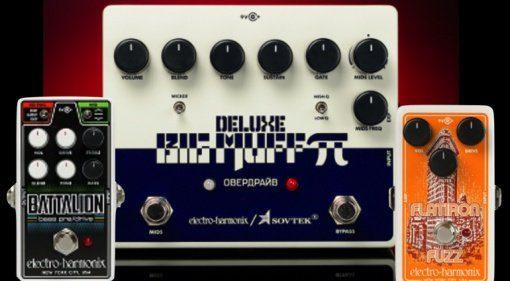 Electro-Harmonix-Sovtek-Deluxe-Big-Muff-Pi-Nano-Battalion-amp-Flatiron-Fuzz