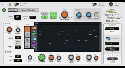 Quad Note Generator für Propellerhead Reason komponiert euch die Songs